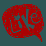 Like word in speech bubble Royalty Free Stock Photos