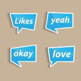 Likes. Speech bubbles to talk about likes A  illustration Stock Image