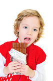 She likes chocolate Stock Images