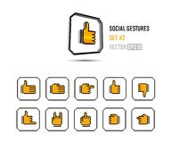Likes & dislikes and more!. A set of social buttons showing different gestures Vector Illustration