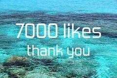 7000 likes
