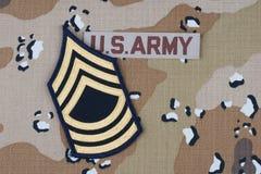 Likformig för USA-ARMÉ med den frodiga lappen royaltyfri foto
