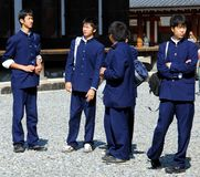 Likformig för Japan pojkeskola Royaltyfri Fotografi