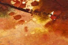 Likgiltig detalj av vattenfärgmålning, härliga färger och Royaltyfri Bild