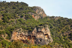 Likijsky tombs, Daljan, Turkey Stock Photography