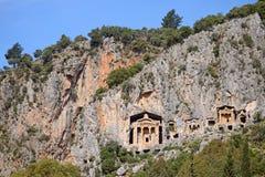 Likijsky tombs, Turkey Stock Photo