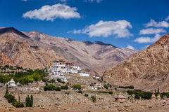 Likir Gompa西藏佛教徒修道院在喜马拉雅山 库存照片
