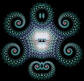 Liknande iskalla Mayan bas för briljant fractalmodell Royaltyfri Bild