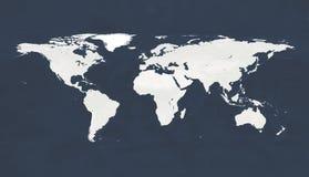 Liknande worldmapsymbol f?r jordklot Fysisk v?rldskartaillustration f?r stort format V?rldskarta som isoleras p? vit bakgrund Van royaltyfri foto