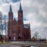 Liksnas placeras helig hjärta av Jesus Roman Catholic Church It nära Daugavpils royaltyfri fotografi