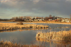 likwidacja rzeka sunset Obraz Royalty Free