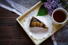 Lilás e chá Foto de Stock Royalty Free