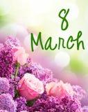 Lilás e flores cor-de-rosa Imagem de Stock