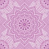 Lilás floral indiano do vetor e mandala roxa ilustração do vetor