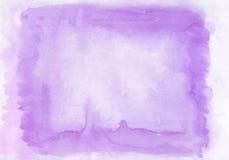 Lilás interessante de duas camadas e fundo horizontal do inclinação do watercolour violeta com pintado na aquarela especial Fotografia de Stock