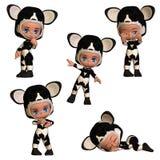 Lil-bub Kühe Lizenzfreie Stockfotos