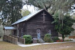 Lil' Ol' Country Church in the South Royalty Free Stock Images