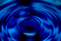 Lil' water drop. Tiny water drop creating a big ripple Stock Images