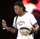Lil Wayne presteert in overleg royalty-vrije stock afbeeldingen