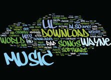Lil Waynes Music Text Background Word Cloud Concept stock illustration