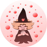 Lil witch and the Crystal Ball. The lil witch gazes into her magical crystal ball Stock Photography