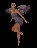 Lila ängel Arkivfoton