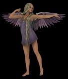 Lila ängel Royaltyfri Bild