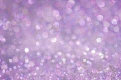 Предпосылка яркого блеска зарева Lila Элегантная абстрактная предпосылка с bokeh Стоковые Фото