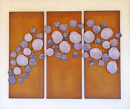 Lila Abstrakcjonistyczna sztuka Obraz Stock