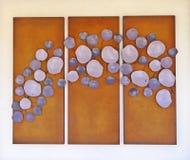 Lila abstrakte Kunst Stockbild