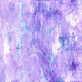 Lila akvarelltexturbakgrund Arkivbilder