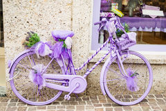 Lila bycicle Royaltyfria Foton