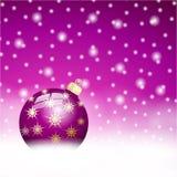 Lila christmas ball  Background Royalty Free Stock Image