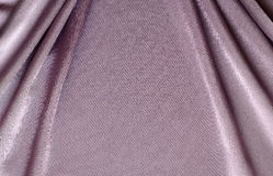 Lila draperat silke royaltyfri bild