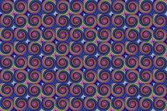 Lila dunkler Hintergrund mit mehrfarbigen Kreisen grünen rosa unbegrenzte Reihe Lizenzfreie Stockfotografie
