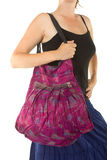 Lila indisk handväska Royaltyfri Foto