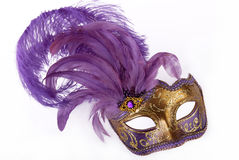 Lila karnevalmaskering Royaltyfria Foton