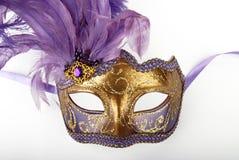 Lila karnevalmaskering Arkivfoton