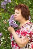 lila kobieta Zdjęcie Royalty Free