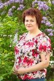 lila kobieta Zdjęcie Stock