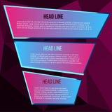 Lila polygonbakgrund för text på kulör bakgrund Arkivfoto
