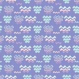 Lila purpurfärgad linje former för havvågmodell Royaltyfri Bild