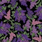 lila S?ml?s modell f?r vektor i tappningstil just rained Blomningbuskar V?xter parkerar och arbeta i tr?dg?rden in royaltyfri illustrationer