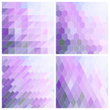 Lila Tile Background Set Royalty-vrije Stock Afbeelding