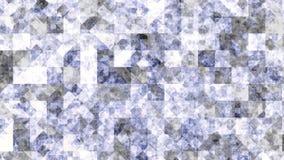 Lila und weiße blitzende und blinkende Pixel, nahtlose Schleife animation Schöner Rautenhintergrund, glühendes Mosaik herein vektor abbildung
