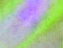 Lila y textura mezclada verde de la pintura de la acuarela Fotografía de archivo