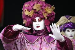 Lilac. A venice carnival mask in lilac Royalty Free Stock Photos
