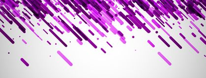 Lilac abstracte banner op wit Stock Foto