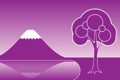 Lilac achtergrond Royalty-vrije Stock Fotografie