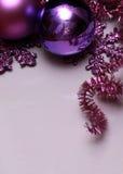 Lilac achtergrond van Kerstmis Stock Foto's